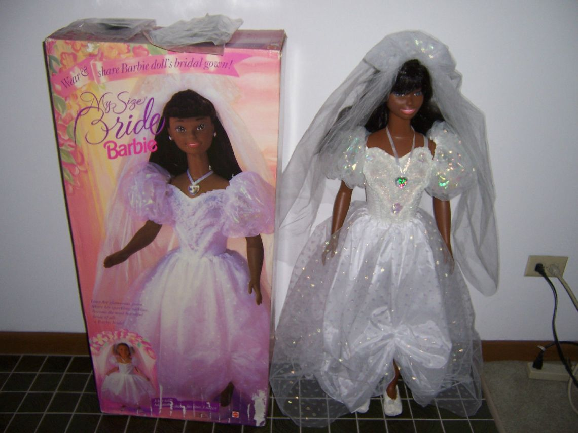 1994-MY-SIZE-BARBIE-BRIDE-DOLL-AFRICAN-AMERICAN